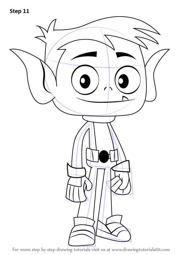 598x844 Learn How To Draw Beast Boy From Teen Titans Go (Teen Titans Go