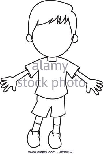 357x540 Cartoon Teen Boy Black And White Stock Photos Amp Images