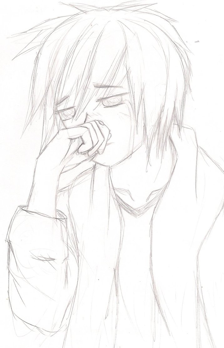 Boy Crying Drawing