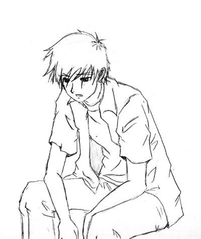 400x474 Photos Sketch Boys Sad Wallpaper,