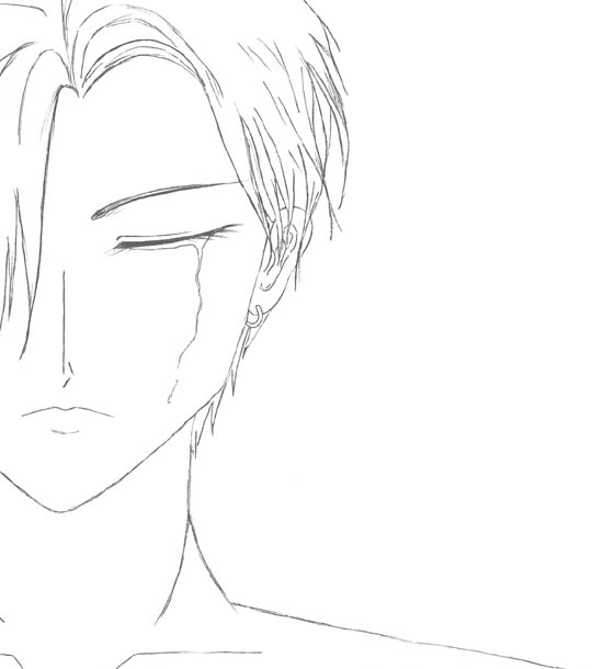 540x610 Pictures Guy Crying Drawing,