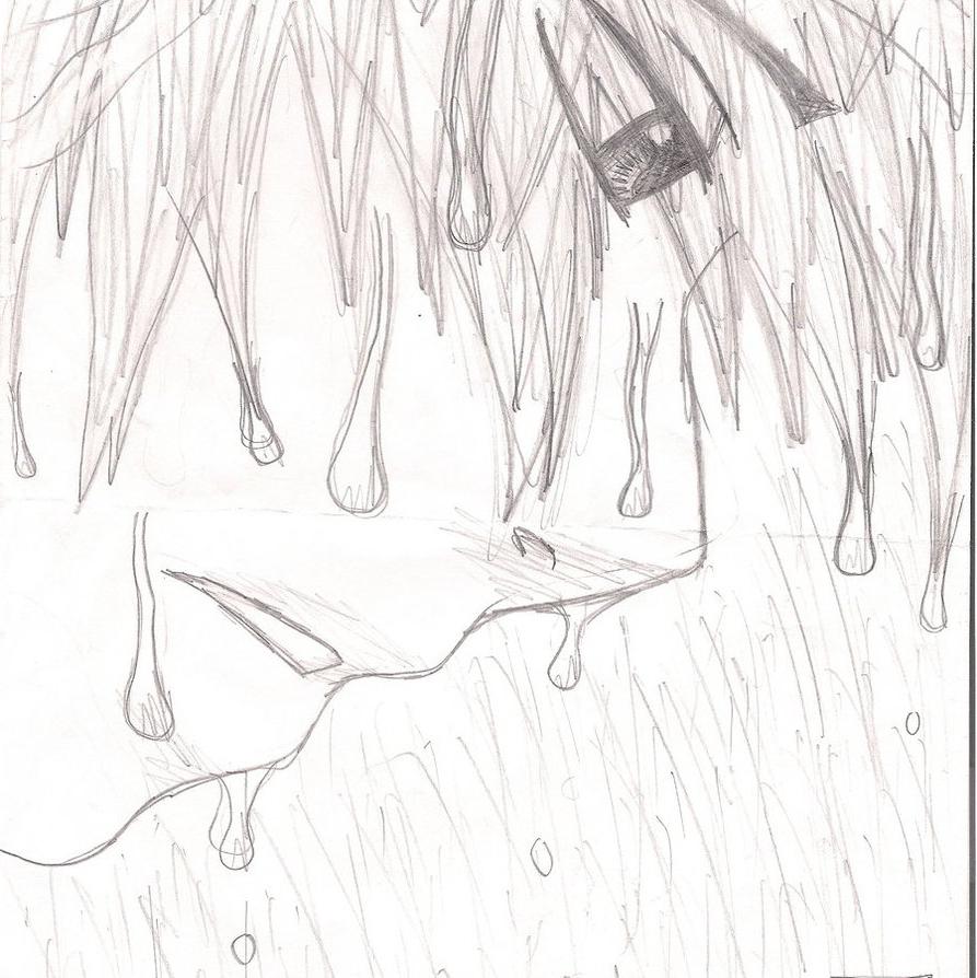 893x894 Sad Anime Boy Crying In The Rain Drawing Sad Anime Boy In The Rain