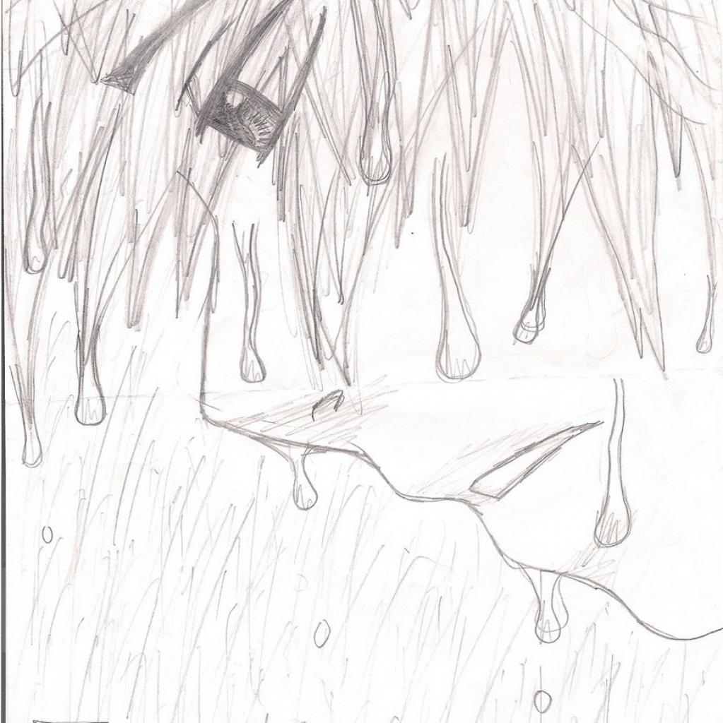 1023x1024 Sad Face Boy Drawing Crying Anime Boy Drawing