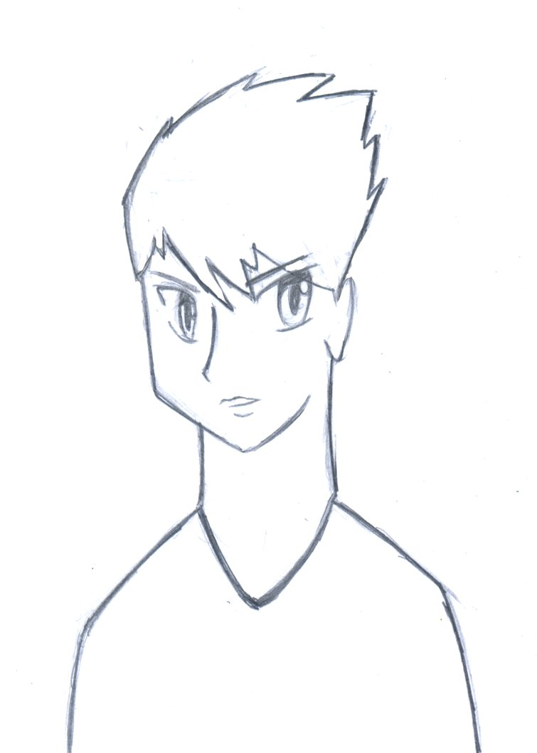 755x1059 Boy Drawing By Jlukas123