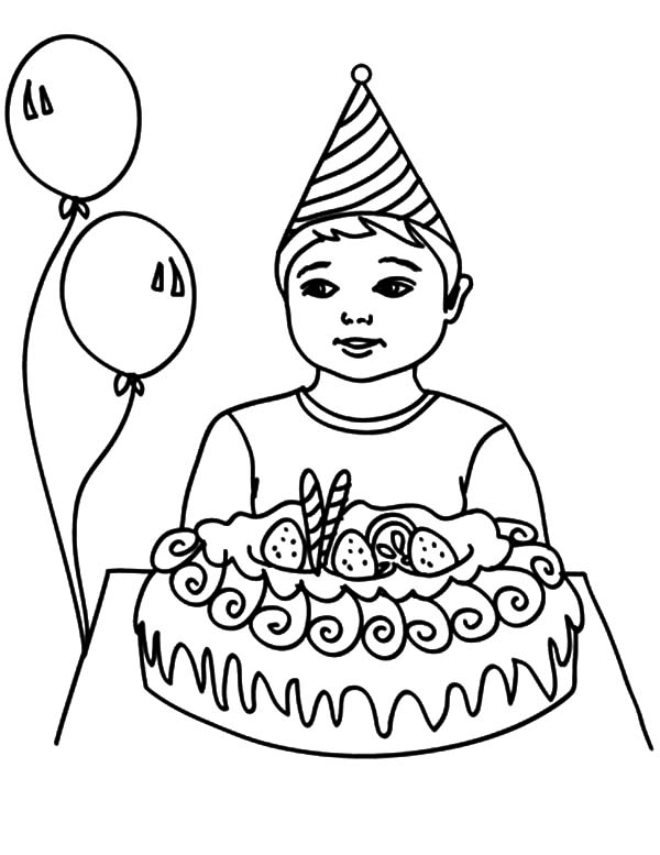 600x777 How To Draw Birthday Boy Coloring Pages Best Place To Color
