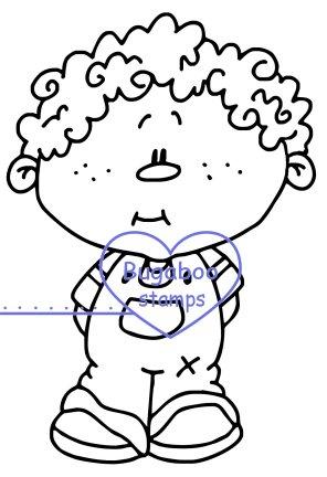 296x432 Drawn Boy Curly Hair Boy