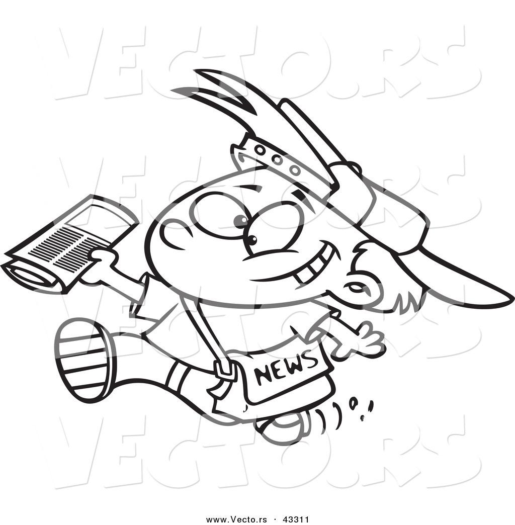 1024x1044 Paper Boy Drawing Paper Boy Clipart 101 Clip Art