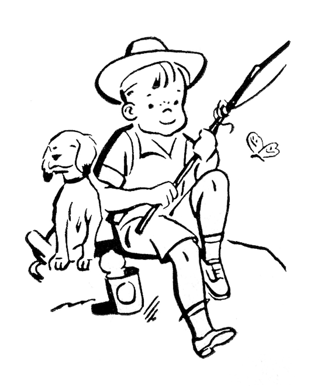 1219x1500 Boy Fishing Cliparts