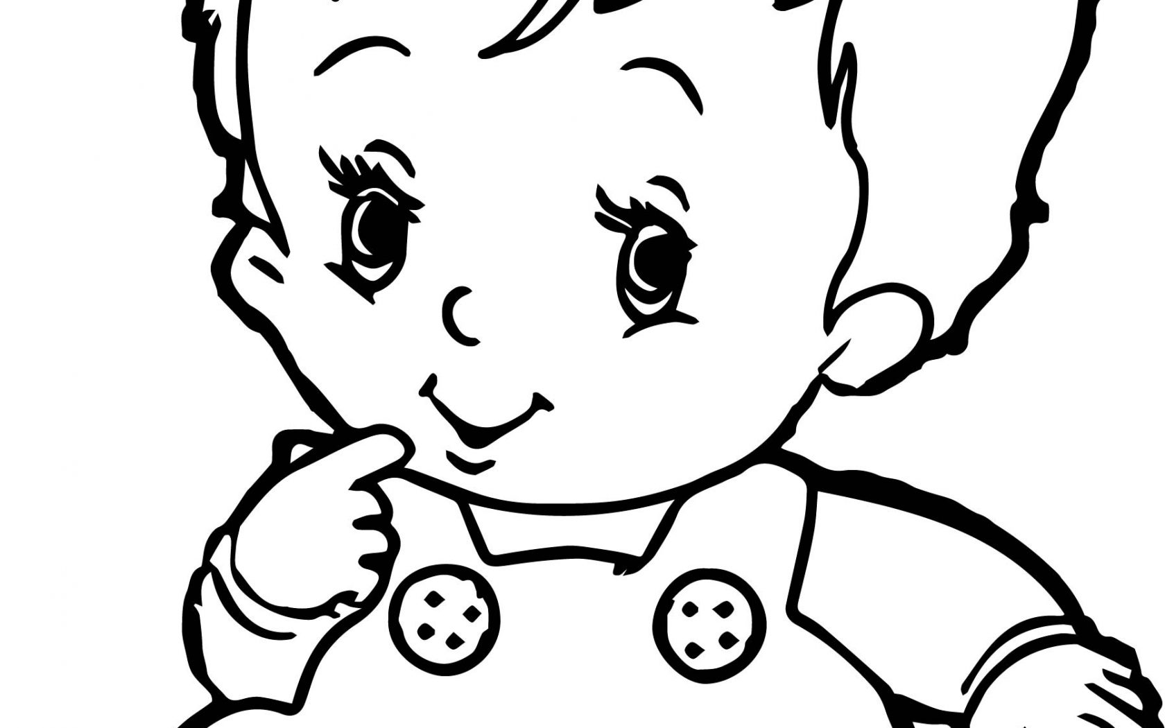 1680x1050 Realistic Baby Coloring Pages With Line Free Printable Kids