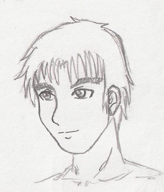 562x655 Boy Face Sketch By Ohjolly