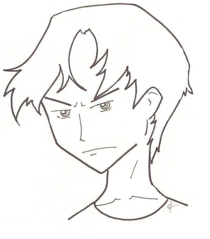 838x954 Boy Face Sketch By Ctaynay