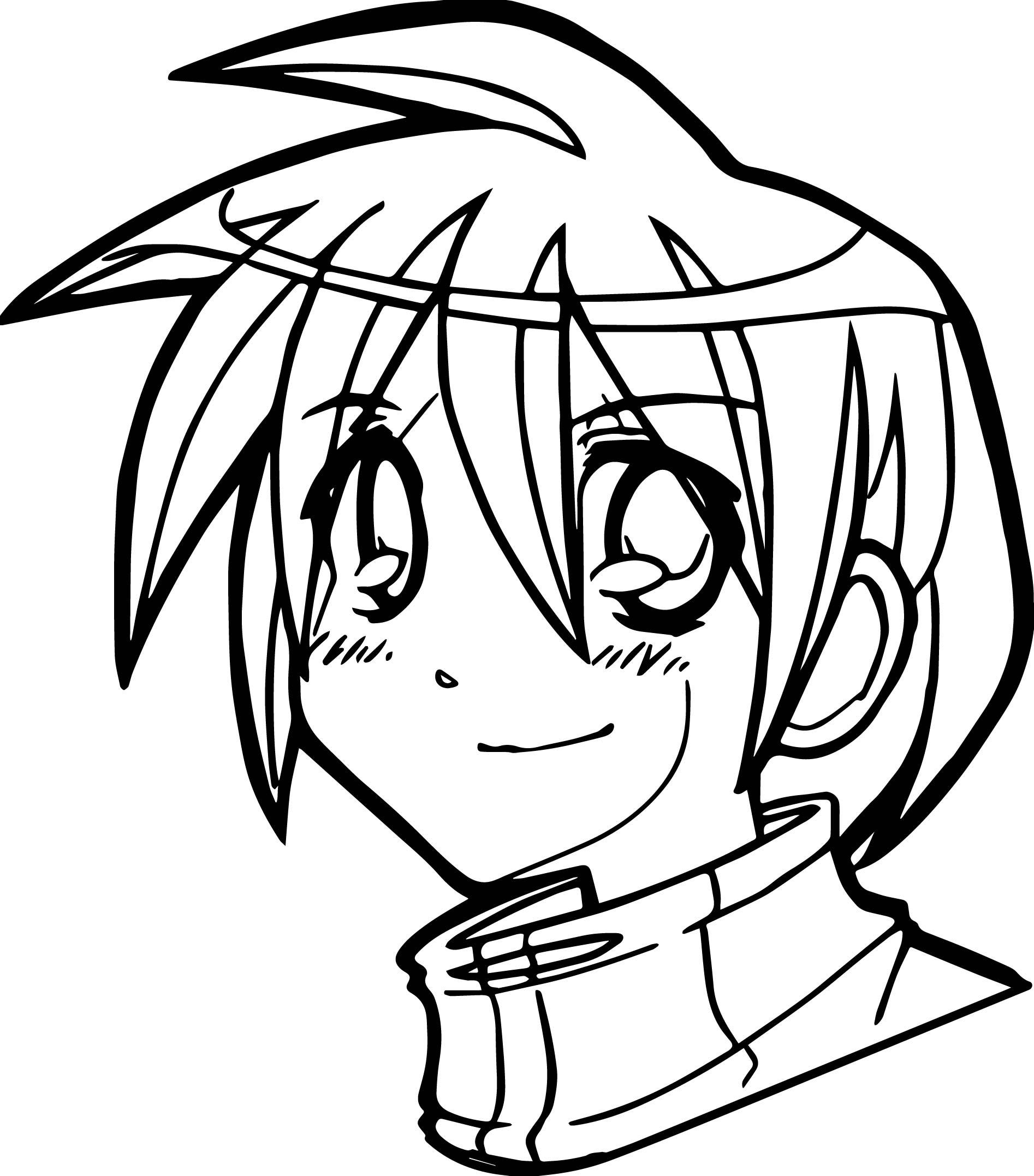 1894x2155 Manga Boy Face Coloring Page Wecoloringpage