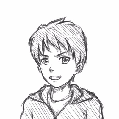 400x400 Pndrawing On Twitter How To Draw Anime Boy Face 34 View [No