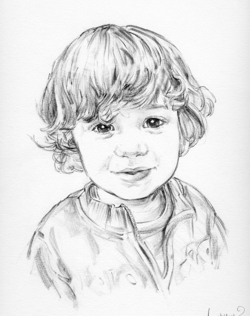 810x1024 Sketch Of Little Boy Face Boy Face Sketch Little Boy's Face Sketch