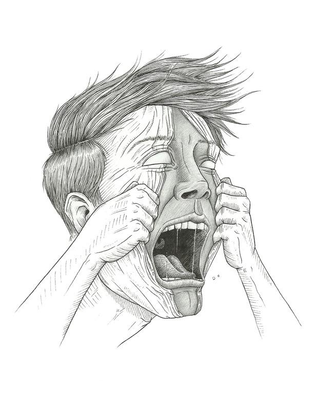 610x786 Boy, Drawing, Face, Illustration