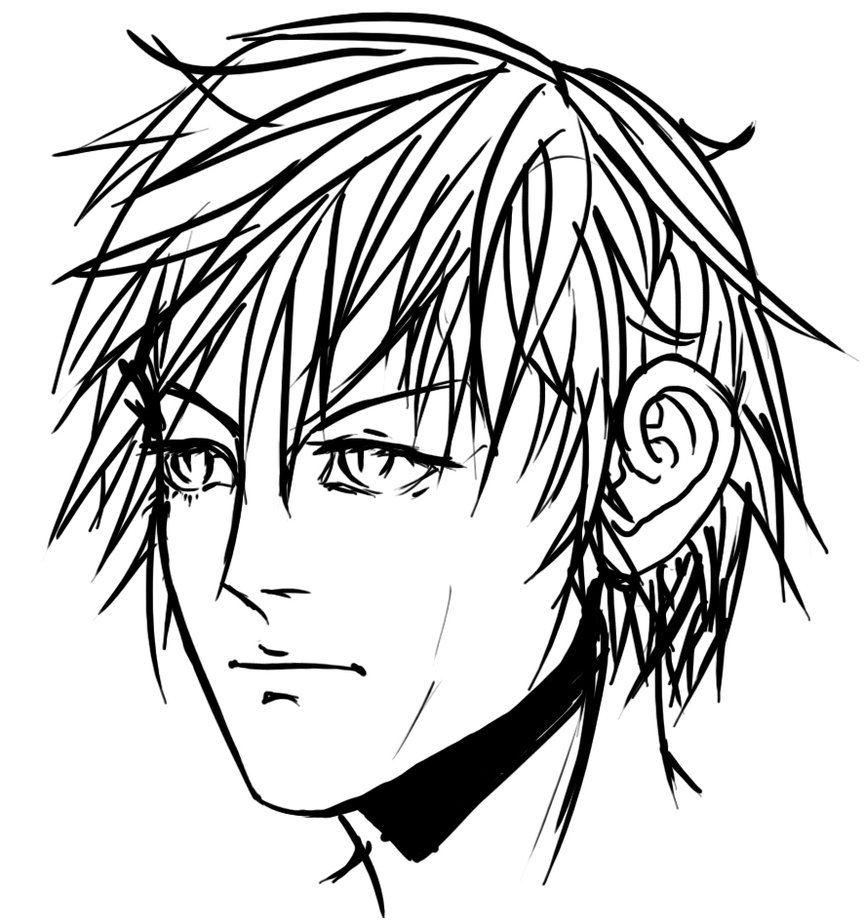 865x924 Boy's Face (Practice) By Aaronthor
