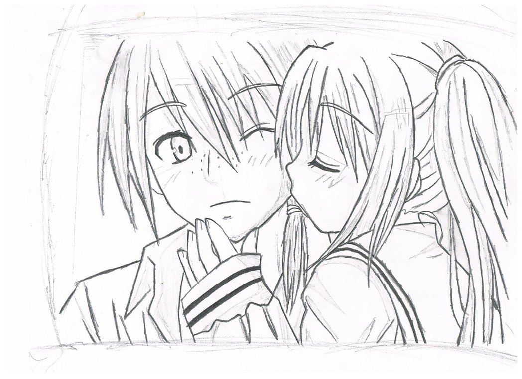1048x762 Boy And Girl Drawing By Sonic288