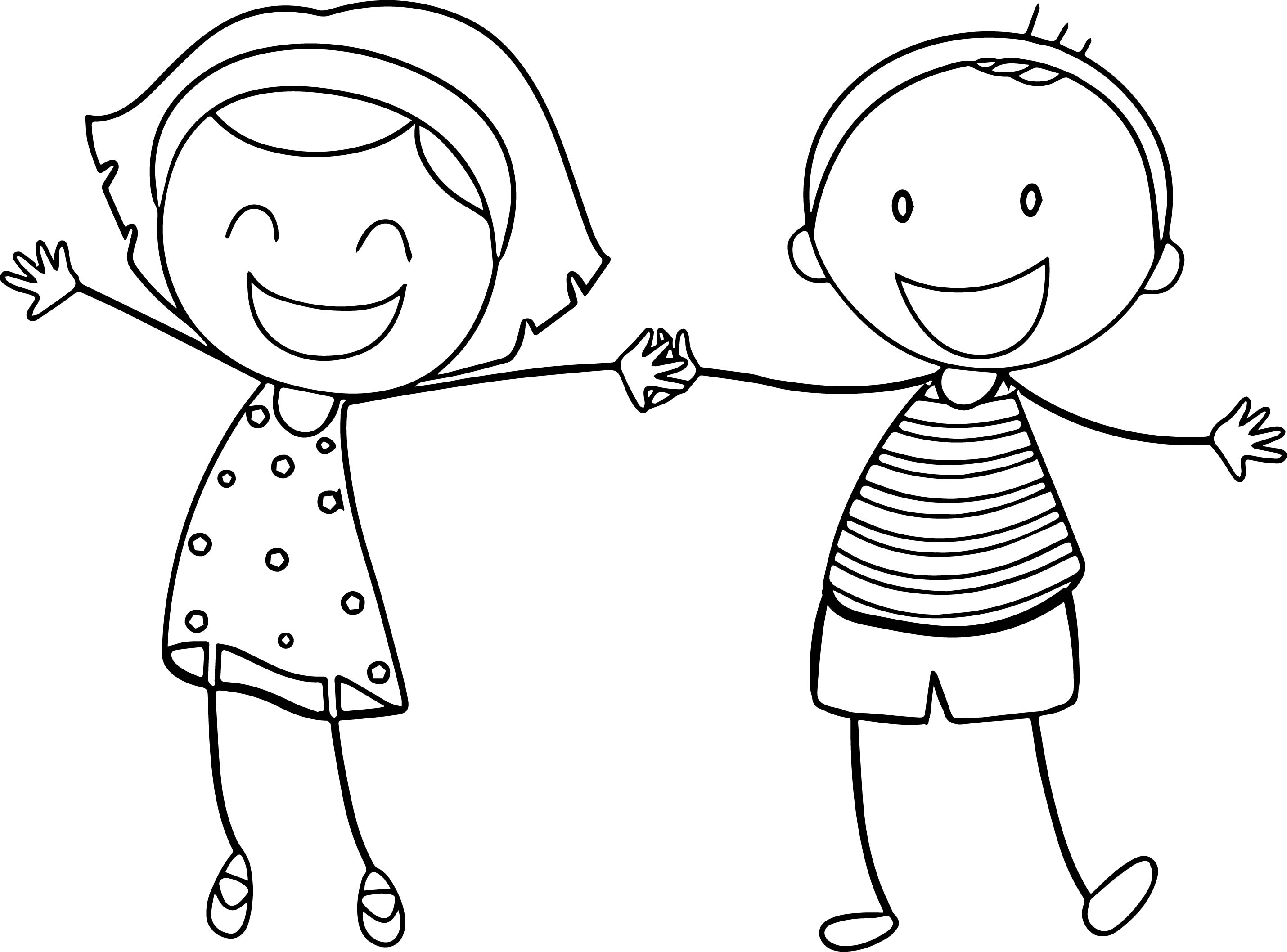 2860x2116 Downloads Boy And Girl Coloring Page 65 On Line Drawings With Boy