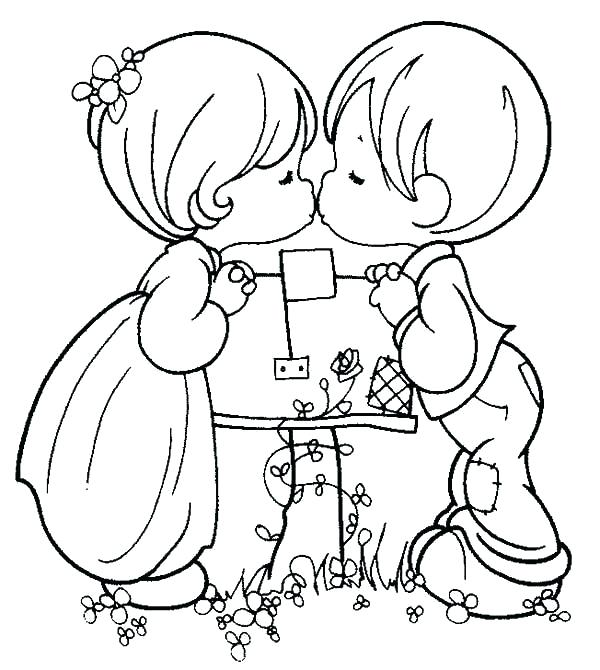 600x670 Boy And Girl Coloring Page Coloring Pages For Boys And Girls Boy