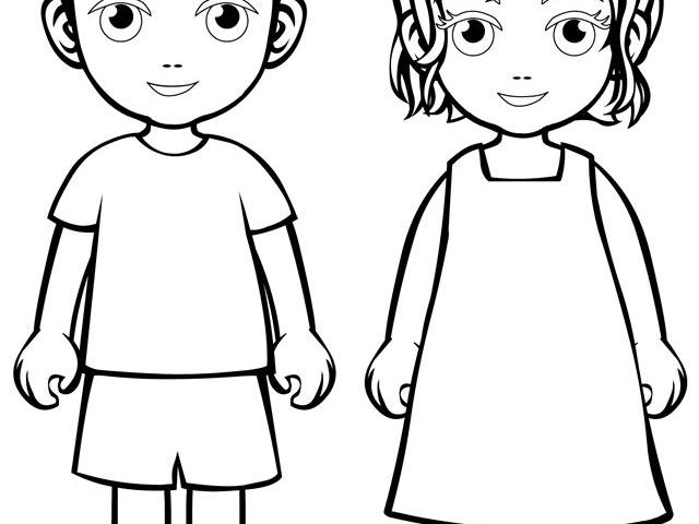 640x480 Boy And Girl Coloring Pages