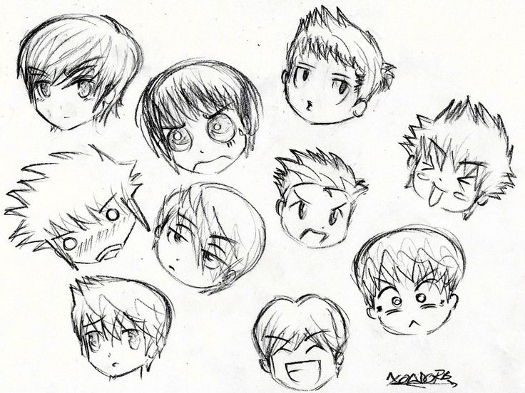 how to draw manga boy hair