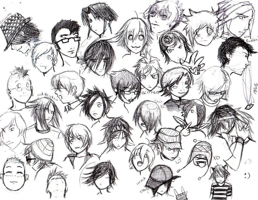 Boy Hair Drawing At Getdrawings Free Download