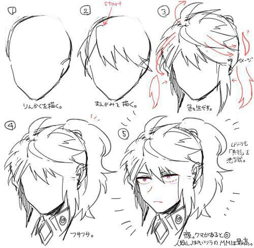 500x488 Boy Hair Tuto Long Hair Boy Hair, Drawings