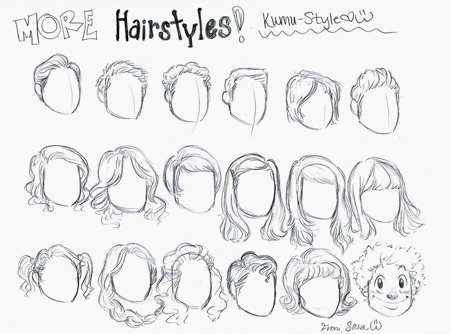 900x667 Hairstyles 3 By Kumu18 On How To Draw Hair