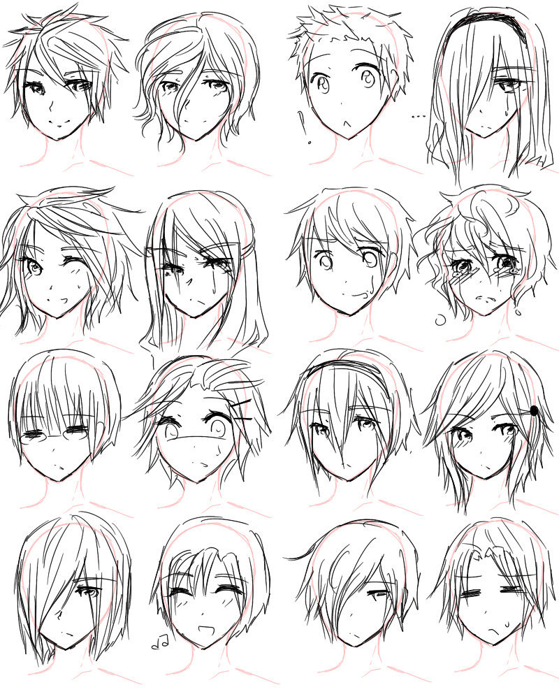 800x1000 How To Draw Anime Hairstyles For Girls Guy Hairstyles By Aii Luv