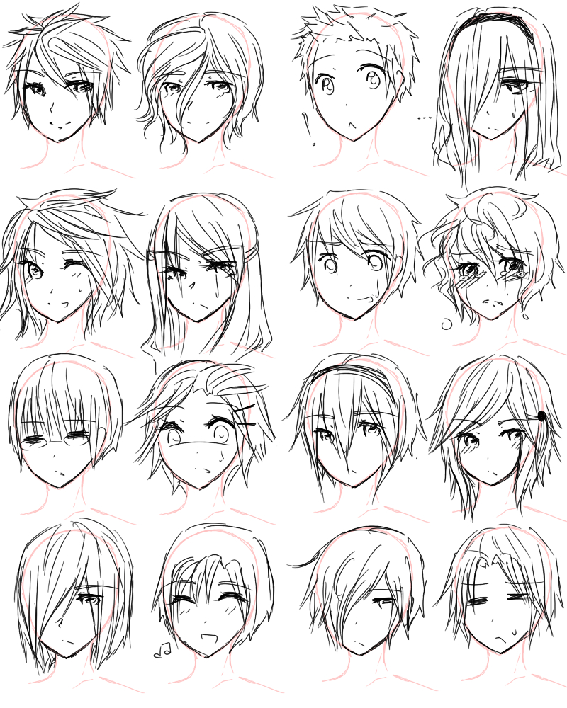 Boy Hairstyles Drawing At GetDrawings