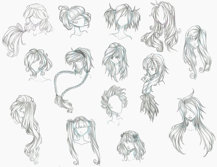 736x564 Cute Anime Hairstyles