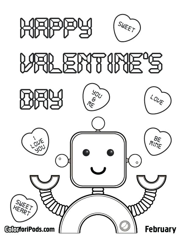 612x792 Valentine Coloring Pages For Boys Coloring