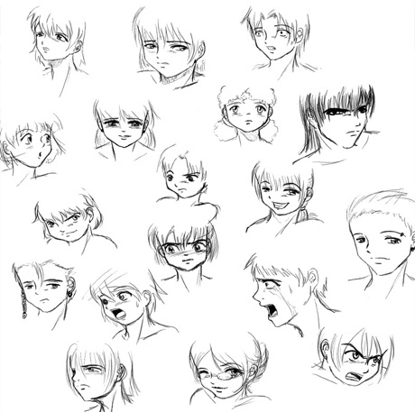 460x457 Anime Boy Drawing