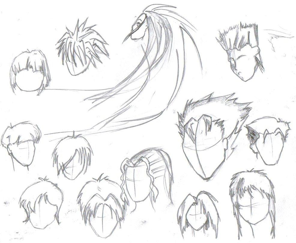 986x810 Anime Drawings Boy Hairstyles Anime Hairstylesrteesworld