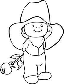 Boy Line Drawing
