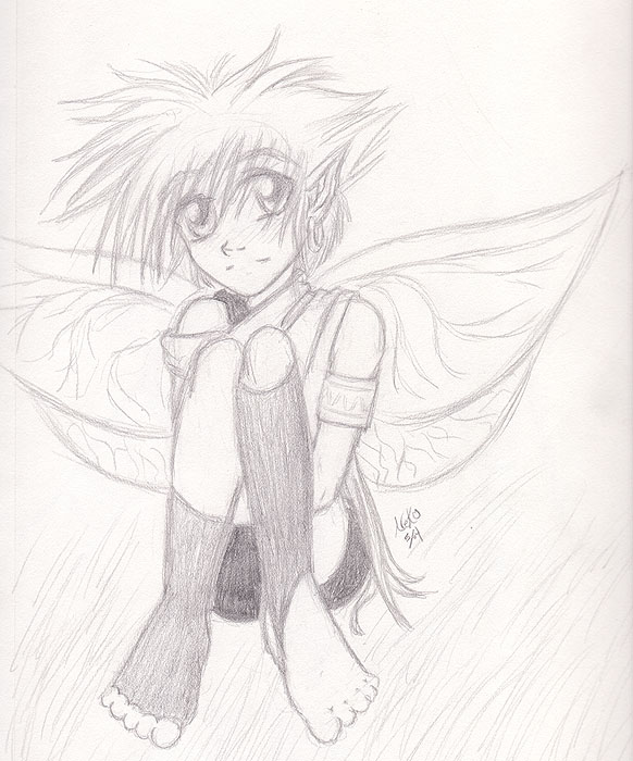 582x700 Fairy Boy Pencil Sketch By Genkishuichi