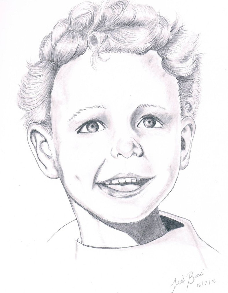 788x1013 Pencil Drawing Of A Boy Realistic Boy Drawing By Tbrendia