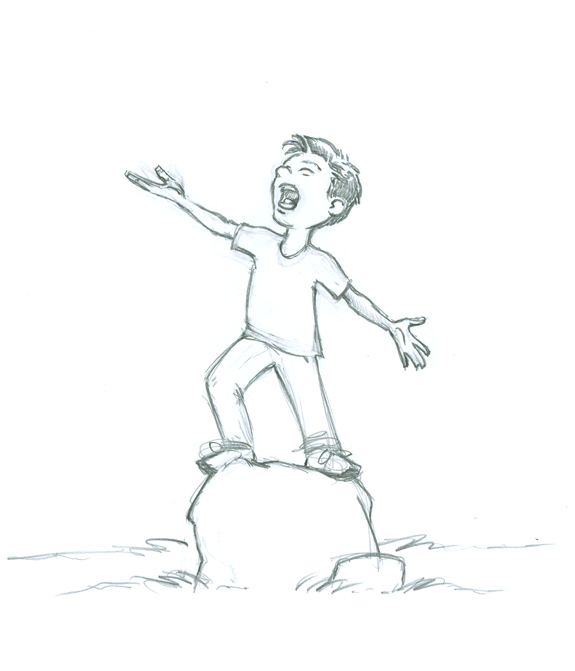 575x671 sketch images of alone boy