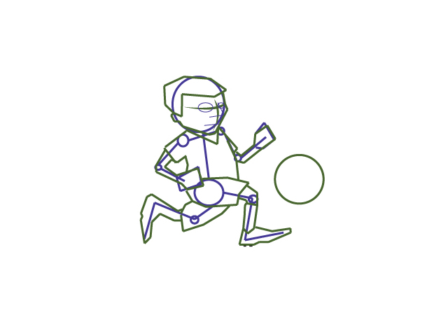 Boy Running Drawing