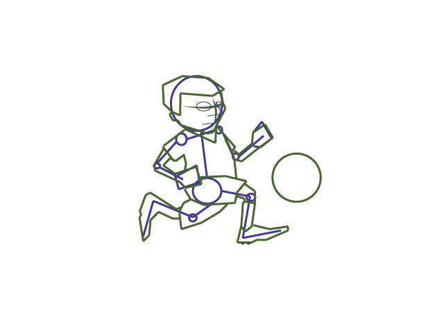 Boy Running Drawing