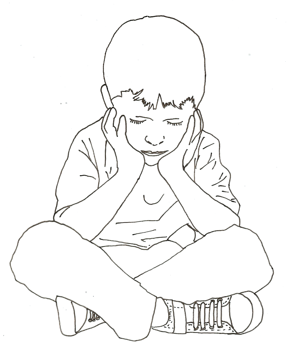 Boy Sitting Drawing