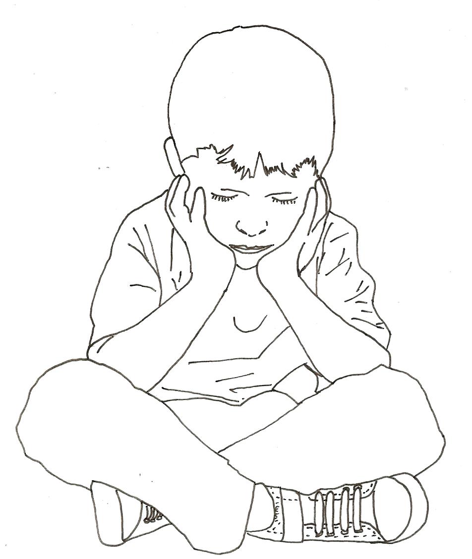 Boy Sitting Drawing