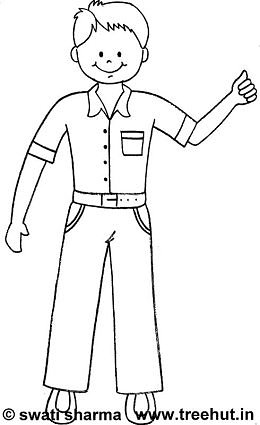260x425 Simple Boys Coloring Pages