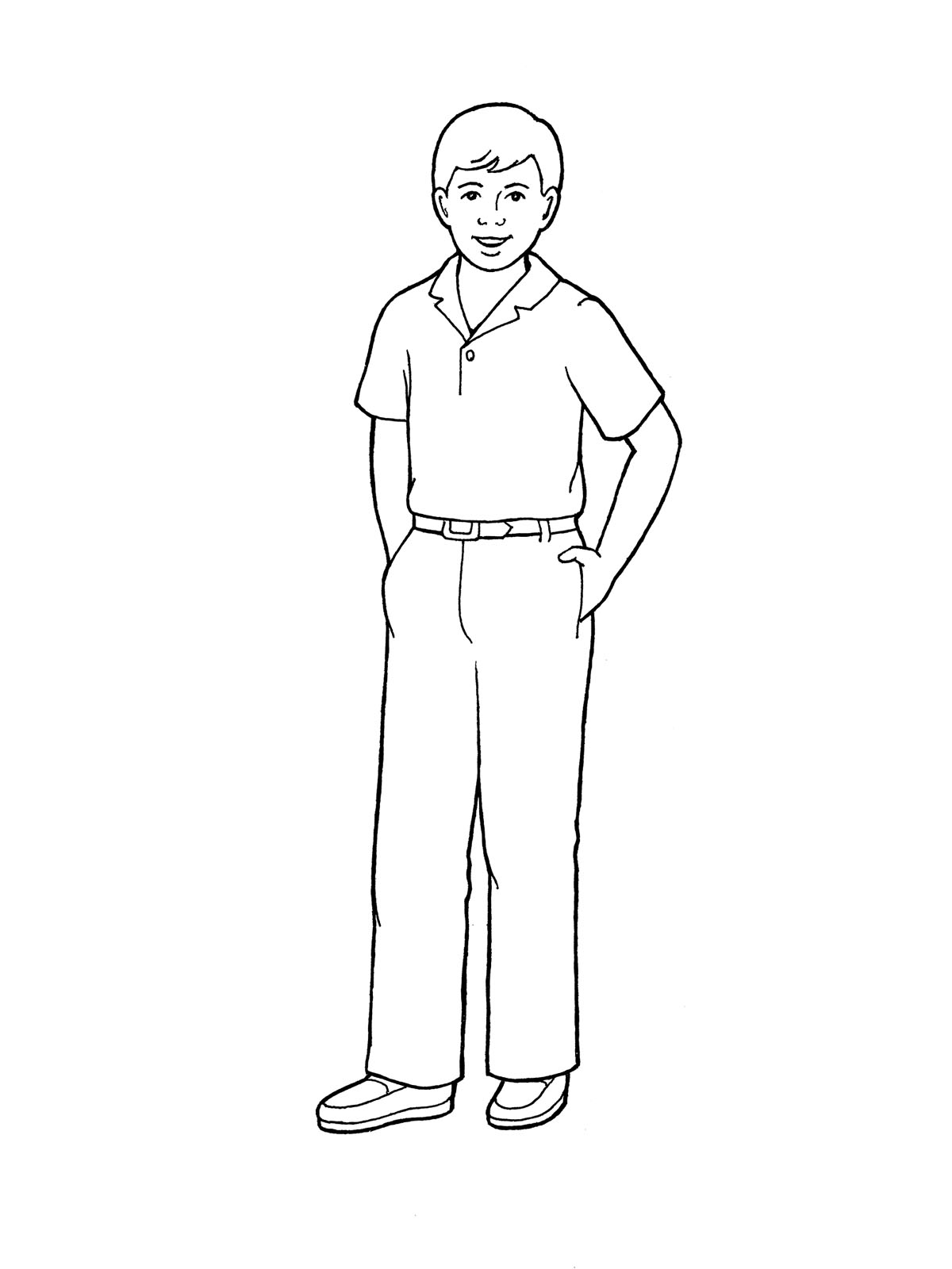 boy standing drawing at getdrawings com free for personal use boy