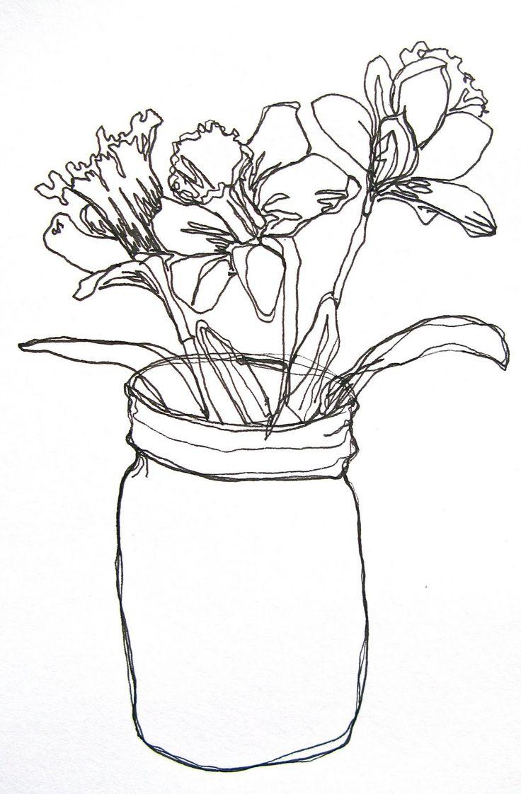 736x1122 Sketch Of Same Flower In Flower Vase Girlfriend Boyfriend Love