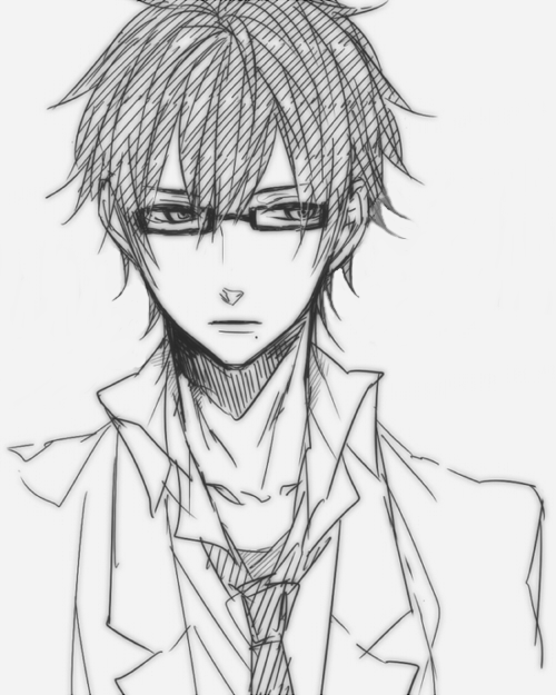 500x625 Drawn Boy Glass Sketch
