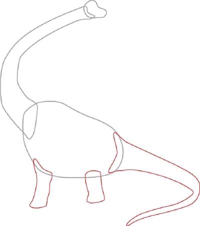 Brachiosaurus Drawing