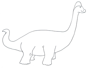 285x227 Dinosaur Coloring Pages
