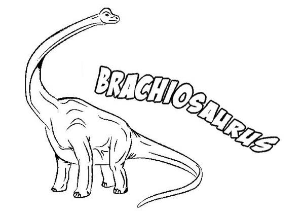 600x422 Quickly Brachiosaurus Coloring Page B Is For Color Luna