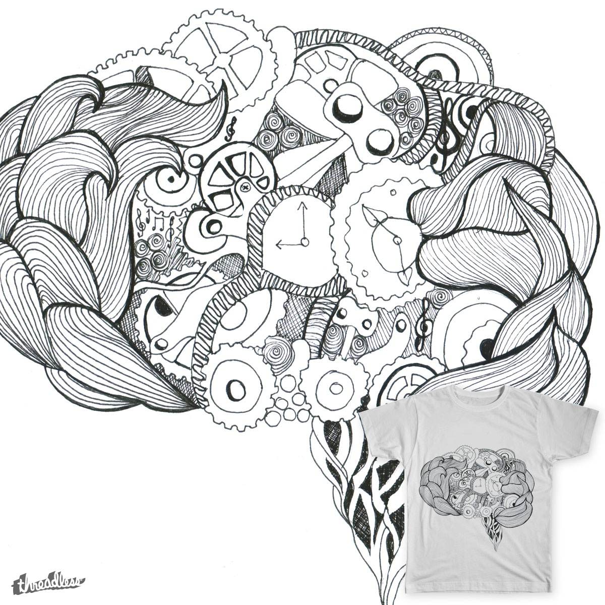 1200x1200 Brain Drawings